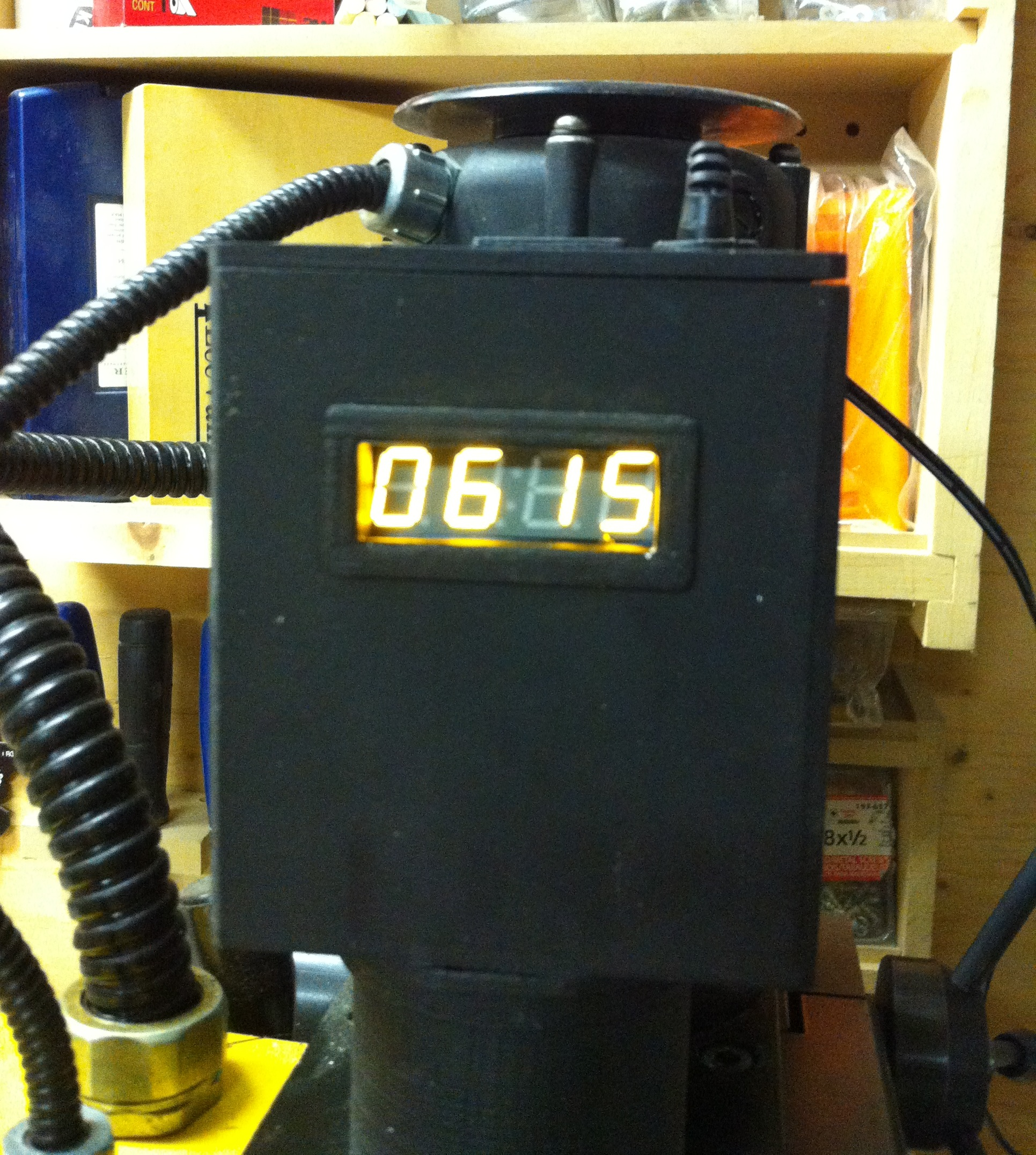 RPM meter for a Milling machine